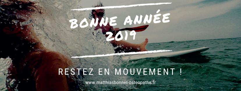 Bonne année 2019 Restez en mouvement